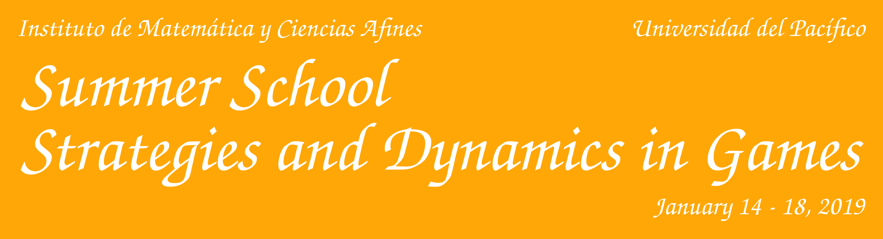 Summer School Strategy and Dynamics in games